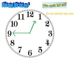 Die Uhrzeiten Almanca Saatler
